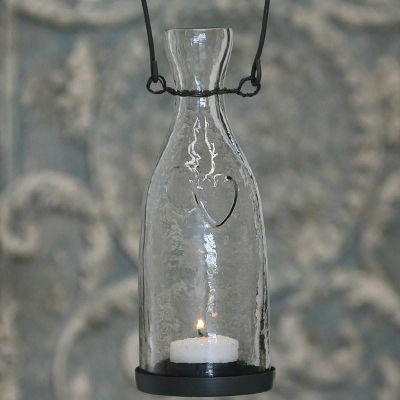 Glas med lysholder