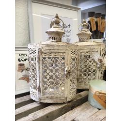Lanterne antik  hvid